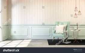 Interior Blue Interior Room Chic Style Blue Pastel Stock Illustration 545259982