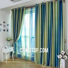 Best Places To Buy Curtains Sophisticated Green And Blue Striped Window Curtains U2013 Muarju