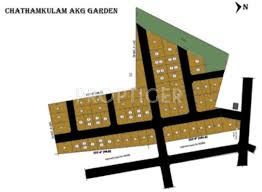 layout plan image of chathamkulam akg garden plot for sale
