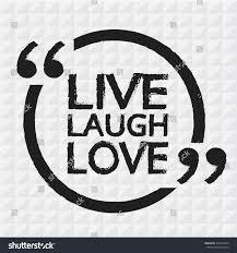 live laugh love lettering illustration design stock vector