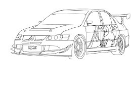 mitsubishi evo drawing perovky aut z rychle a zběsile tuning 220