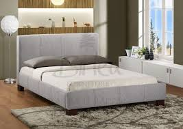 grey upholstered bed frame regarding contemporary residence fabric
