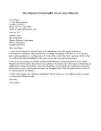 ideas collection coordinator cover letter sample on format sample