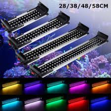 color changing led fish tank lights 25 60cm rgb color changing led remote dimmable aquarium fish tank