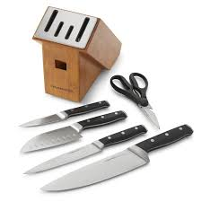 sharpening for kitchen knives calphalon classic sharpin 6 self sharpening knife set