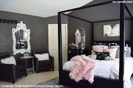 bedroom wall stencil designs u0026 diy decorating to sleep in style