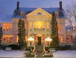 Christmas Decorated Houses 13 Best Beautiful Christmas Decorated Homes Images On Pinterest