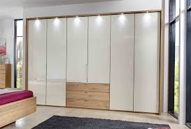 Solid Bifold Closet Doors Stylform Selene 250cm Solid Oak Glass Wardrobe Head2bed Uk