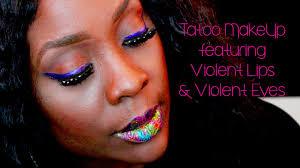 eyeliner tattoo violent eyes violent lips lip tattoo tutorial youtube
