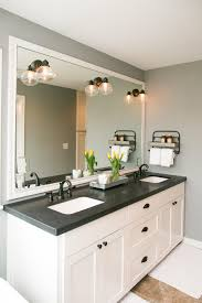 white sink black countertop the master bathroom has black granite countertops with double vanity