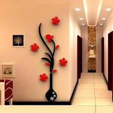 online get cheap wall art vase aliexpress com alibaba group 3d vase flower tree crystal arcylic wall sticker home room tv decor wall decal kitchen wall