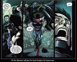 Broken Back Meme - oh no batman will get his back broken by superman by