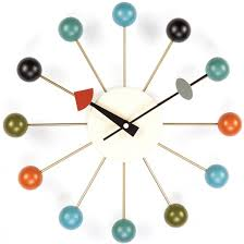 Mid Century Modern Fabric Reproductions Mid Century Modern Reproduction Ball Clock Multi