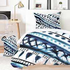 deny designs indigo stripe comforter set home teenage room