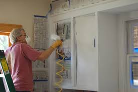 Kitchen Cabinet Staining Famed All Pro Painting Kitchen Cabinets Staining Detailed