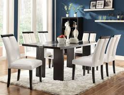 dining room awesome dining room set with leather chairs trendy