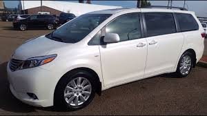 toyota sienna 2017 toyota sienna xle awd in blizzard pearl white review and test