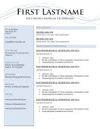 Two Page Resume Sample by Resume Template 205 Two Pages Version U2013 Free Cv Template Dot Org