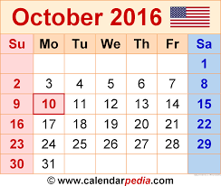 printable calendar 2016 time and date october 2015 calendar time date other calendars description