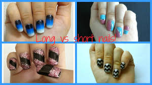 different types of nail designs for long and short nails youtube