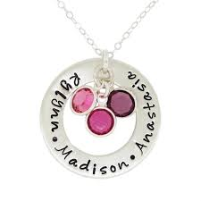 personalized birthstone necklaces circle of with birthstones great gift for a
