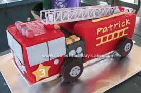 firetruck cakes awesome truck cake with chocolate ladder