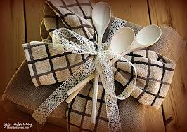 bridal shower wrapping paper bridal shower gift wrap burlap lace kitchen towels wooden spoons