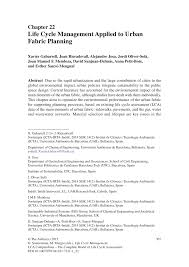 life cycle management applied to urban fabric planning pdf
