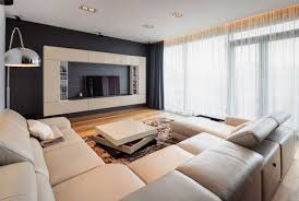 small modern apartment decorating brown wooden floor rectangle