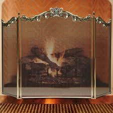 amazon com amagabeli 3 panel floral wrought iron fireplace screen