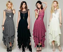fashion womens hollow full lace party evening casual prom elegant