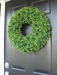 realistic 20 inch faux boxwood wreath sizes 14 to 30 inches