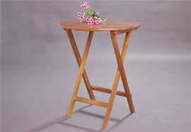 laptop computer end table wooden folding side table round 80cm 3 color white natural coffee