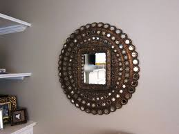 home decoration terrific round wall mirrors with multiple round