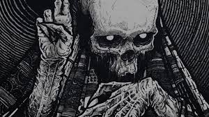scary halloween wallpaper dark fantast skeleton skull occult horror creepy spooky scary