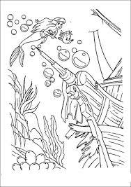 71 coloring disney mermaid u0026 bugs images
