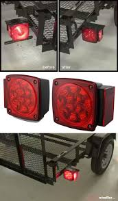 utility trailer light bulbs miro flex led trailer tail lights submersible 38 diodes square