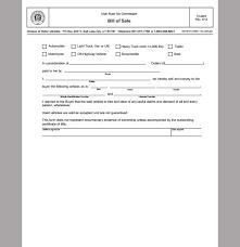 free bill of sale template cyberuse