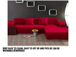 Easy Stretch Sofa Covers Yazi Red Washable Elastic Sofa Cover Three Seater Couch Stretch
