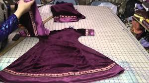 umbrella pattern salwar velvet princess cut kameez youtube
