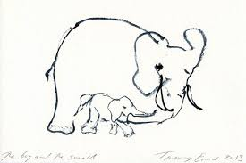 tracey emin u0027s elephants artist creates drawing for charity appeal