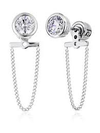 front and back earrings s new michael kors mkj5847040 brilliance removable front back chain