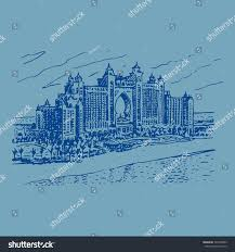 hotel atlantis palm dubai uae vector stock vector 324590855