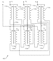 component three phase transformer connection patent us7969265