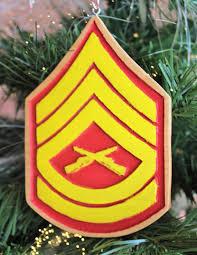 marine corps ornament sergeant gifts sergeant stripes usmc