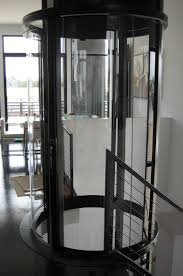 Homes With Elevators by Visilift Round Glass Elevator Visilift Glass Elevators In