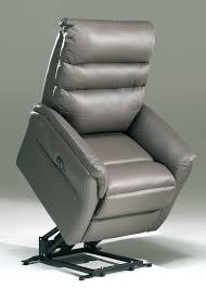 fauteuil relax releveur fauteuil de relaxation électrique en cuir gris 2 moteurs avec