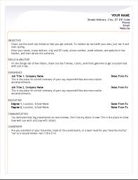 ms word resume templates resumes and cover letters office