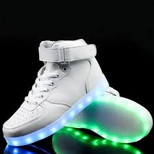 light up shoes that change colors high top women shoes light led 7 color flashing women sneakers high