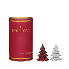 waterford crystal mini christmas tree red from junkyarddogsales c